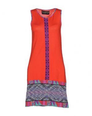 Короткое платье CUSTO BARCELONA. Цвет: коралловый