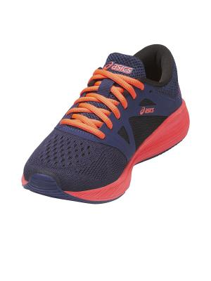 Кроссовки  RoadHawk FF GS ASICS. Цвет: голубой, оранжевый, черный