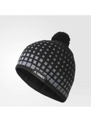 Шапка OLYMPIC BEANIE Adidas. Цвет: черный, серый