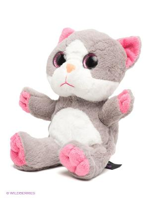 Мягкая игрушка Котенок MAXITOYS. Цвет: серый
