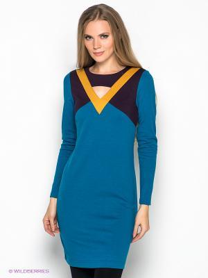 Платье DOCTOR E. Цвет: бирюзовый, фиолетовый, горчичный