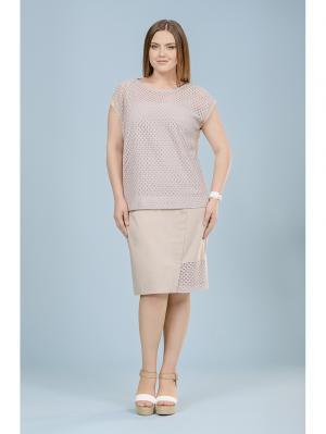 Блузка LALIS. Цвет: бежевый
