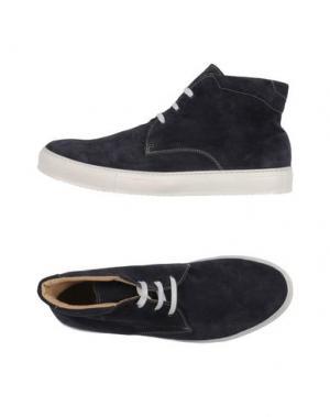 Высокие кеды и кроссовки SIMONE MARIOTTI. Цвет: темно-синий