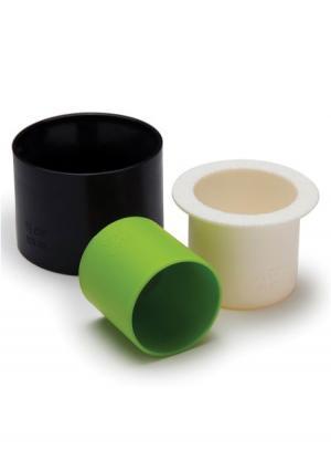 Набор мерных чаш Makicups (3 шт.) OTOTO. Цвет: черный