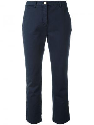 Укороченные брюки History Repeats. Цвет: синий