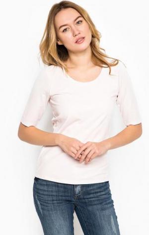 Розовая футболка из хлопка MORE &. Цвет: розовый