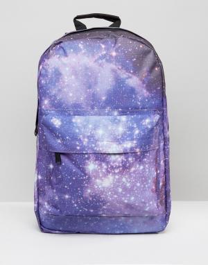 Spiral Рюкзак с принтом галактики. Цвет: фиолетовый