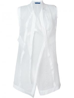 Удлиненный жилет Demoo Parkchoonmoo. Цвет: белый