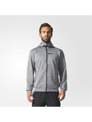 Толстовка CTC HO FLEECE  GREFIV Adidas. Цвет: серый
