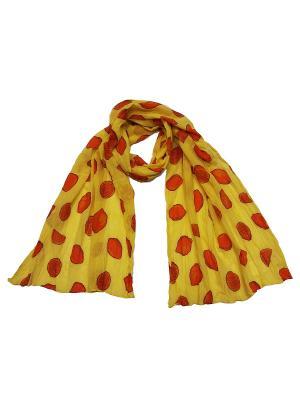 Платок Zalta. Цвет: желтый, красный