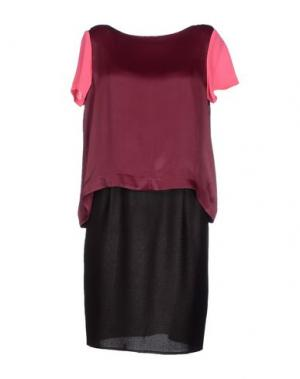 Платье до колена INTROPIA. Цвет: красно-коричневый