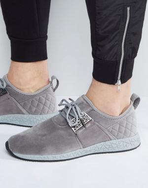Cayler & Sons Серые кроссовки со стеганым задником Katsuro. Цвет: серый