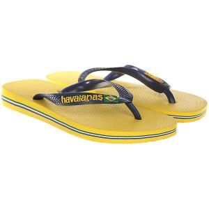 Вьетнамки  Brasil Logo Yellow Havaianas. Цвет: желтый