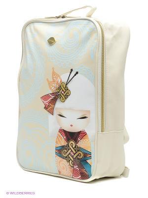 Сумка-рюкзак Намика Kimmidoll. Цвет: голубой