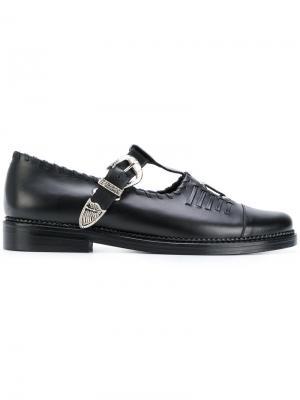 Strap loafers Toga Virilis. Цвет: чёрный