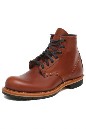 Ботинки RED WING. Цвет: коричневый