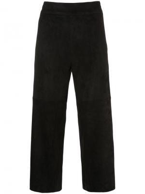 Укороченные широкие брюки Sylvie Schimmel. Цвет: чёрный