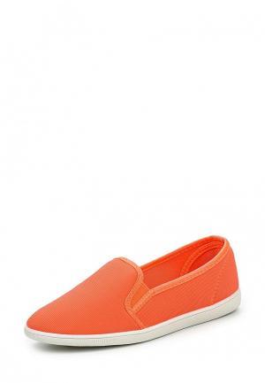 Слипоны Ideal Shoes. Цвет: оранжевый