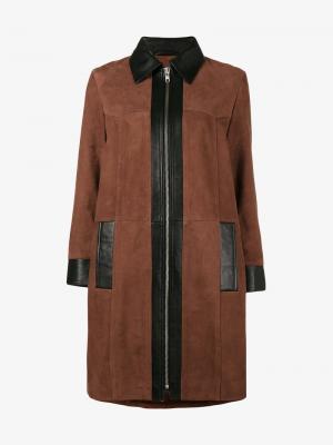Пальто Miller Ganni. Цвет: коричневый