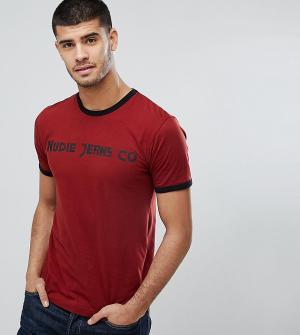 Nudie Jeans Футболка с логотипом Co Kurt. Цвет: красный
