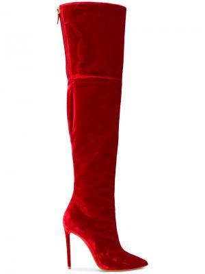 Ботфорты на шпильке Alexandre Vauthier. Цвет: красный
