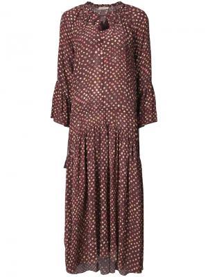 Длинное платье с принтом Ulla Johnson. Цвет: коричневый