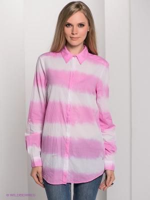 Рубашка Bogner Jeans. Цвет: розовый, белый