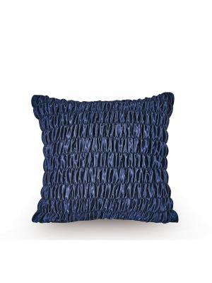 Декоративные наволочки 45х45, молния, атласная ткань, стяжки, васильковый Asabella. Цвет: индиго