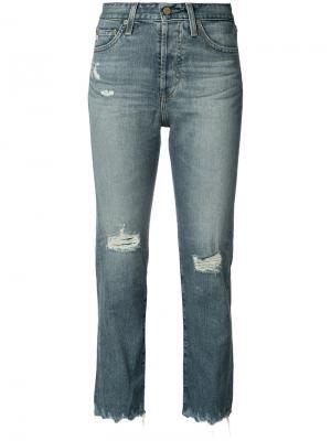 Укороченные джинсы с завышенной талией Ag Jeans. Цвет: синий