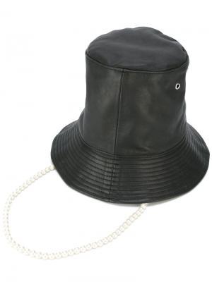 Шляпа с искусственным жемчугом Aalto. Цвет: чёрный