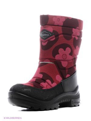 Полусапожки KUOMA. Цвет: бордовый, розовый