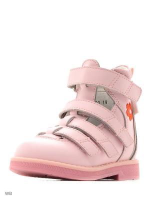 Ботинки ортопедические ORTHOBOOM. Цвет: розовый
