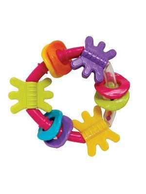 Playgro Игрушка-погремушка. Цвет: желтый, салатовый, голубой, фиолетовый, оранжевый, розовый