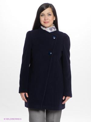 Пальто Gemko plus size. Цвет: темно-синий