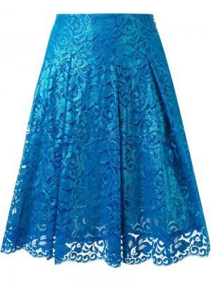 Кружевная юбка DressCamp. Цвет: синий