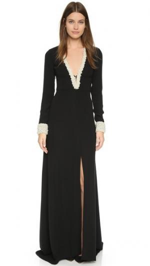 Вечернее платье, отделанное искусственными жемчужинами Rachel Zoe. Цвет: голубой