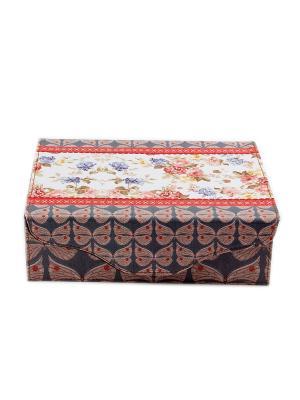 Шкатулка для ювелирных украшений Русские подарки. Цвет: черный, красный, серо-голубой