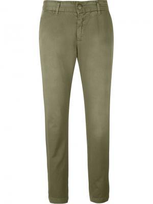 Укороченные джинсы  Buddy Current/Elliott. Цвет: зелёный