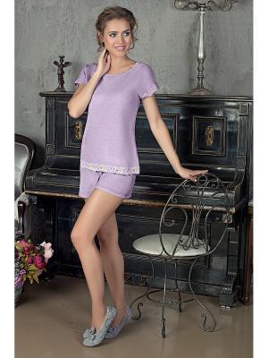 Пижама NicClub. Цвет: сиреневый