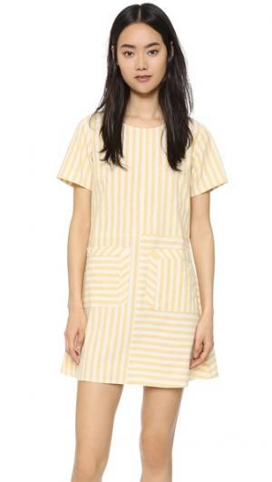 Платье Perspective Samantha Pleet. Цвет: желтый полосатый