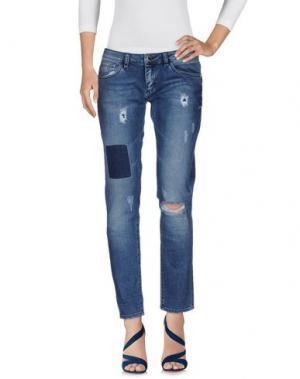 Джинсовые брюки MANGANO. Цвет: синий