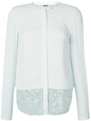 Блузка с цветочным узором Elie Tahari. Цвет: синий