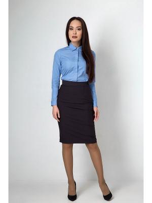 Рубашка приталенная с длинным рукавом Welldress. Цвет: голубой