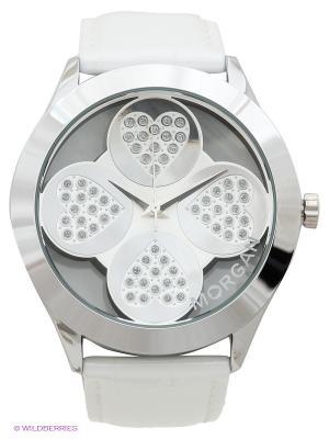 Часы Morgan. Цвет: серебристый, белый