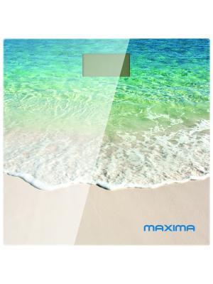 Весы напольные  MAXIMA МS-017 электронные (Пляж). Цвет: голубой, бежевый, белый
