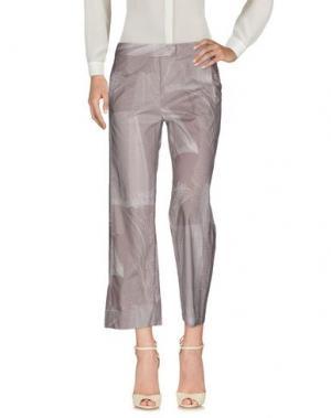 Повседневные брюки CIVIDINI. Цвет: голубиный серый