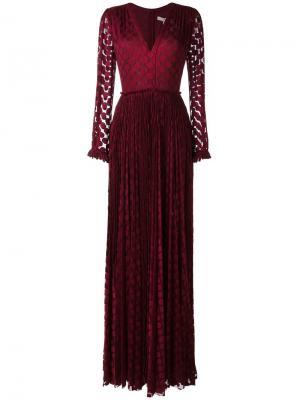 Платье Kitty Maria Lucia Hohan. Цвет: розовый и фиолетовый
