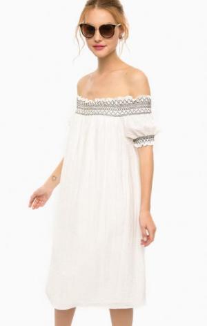 Белое платье свободного кроя Darling. Цвет: белый
