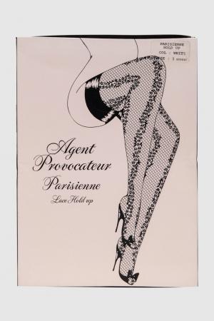 Чулки на резинке PARISIENNE Agent Provocateur. Цвет: белый