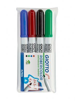 Giotto robecolor whiteboard medium набор маркеров для белой доски 4шт в бл. FILA. Цвет: белый, красный, синий
